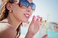 Girl with cocktail Stock Photo