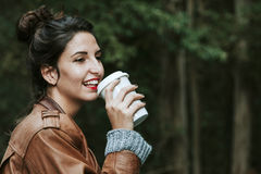 Girl coffe drink Royalty Free Stock Image