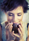 Girl With Coffee Royalty Free Stock Photo