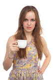 Girl with a coffee cup Stock Photo
