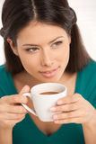 Girl with coffee. Stock Image