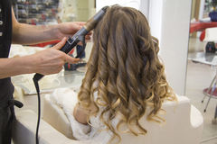 Girl coiffure Royalty Free Stock Images