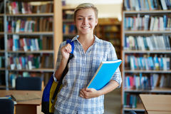 Girl in college Stock Image