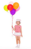 Girl with colorful balloons. Royalty Free Stock Photo