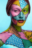 Girl with colorful body art Royalty Free Stock Image