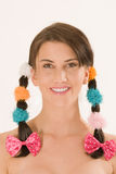Girl with colorful braids Royalty Free Stock Photos