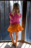 Girl in colorful clothes Royalty Free Stock Images