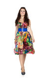 Girl in colorful dress Royalty Free Stock Photography
