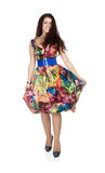 Girl in colorful dress Royalty Free Stock Image