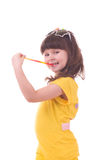 girl with a colorful lollipop Royalty Free Stock Photos