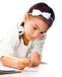 Girl coloring Stock Photos