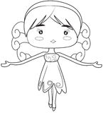 Girl coloring page Stock Photo