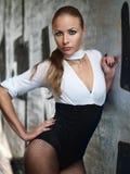 Girl in combidress Stock Photo