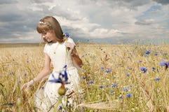 Girl communion dress Royalty Free Stock Image