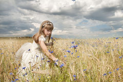 Girl communion dress Royalty Free Stock Photography