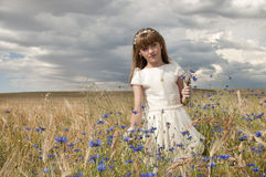 Girl communion dress Stock Photos