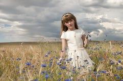 Girl communion dress Stock Photos