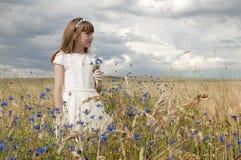 Girl communion dress Royalty Free Stock Photography