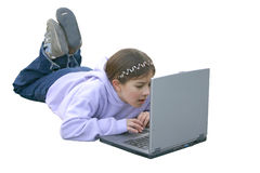Girl on Computer 3 Royalty Free Stock Photos