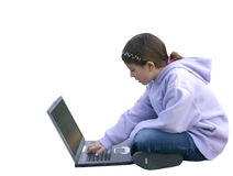 Girl on Computer 4 Royalty Free Stock Photo