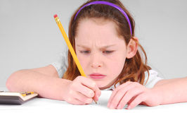 Girl Concentrating Stock Photos