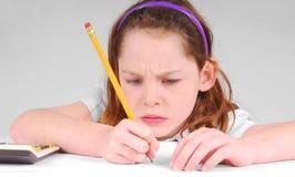 Girl Concentrating Stock Photos