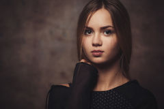 The girl with a confident look Royalty Free Stock Photos