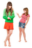Girl conflict Royalty Free Stock Photos