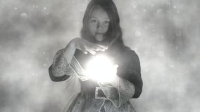 Girl conjure stock video