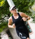 Girl contestant in TRIATLON Stock Image