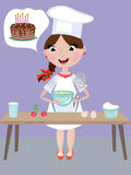 Girl cook Royalty Free Stock Images