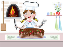 Girl cook Stock Photography