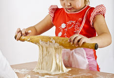 The girl the cook Royalty Free Stock Photo