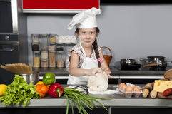 Girl cook Royalty Free Stock Image