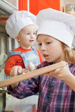 Girl in a cook cap Royalty Free Stock Photography