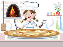 Girl cook,CMYK Stock Photo