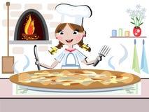 Girl Cook,CMYK Stock Photo