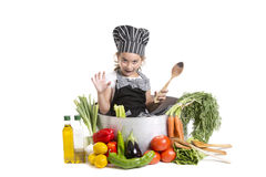 Girl cook Stock Photo