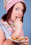 Girl with cookies Royalty Free Stock Image