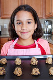 Girl With Cookies Stock Image