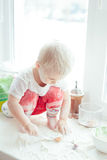 Girl Cooking Baking Royalty Free Stock Images