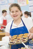 Girl in a cooking class Stock Image