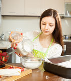 Girl cooking sweet cake Royalty Free Stock Image