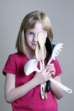 Girl with Cooking utensils Royalty Free Stock Images