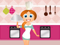 Girl cooks Royalty Free Stock Photos