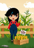 Girl with corn Stock Images