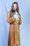 Girl in costume of the 18th century Stock Photos