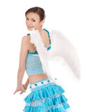 Girl in costume of angel. Stock Image