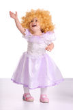 Girl in costume of doll. Royalty Free Stock Photos