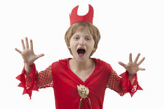 Girl in costume at Halloween Royalty Free Stock Photo